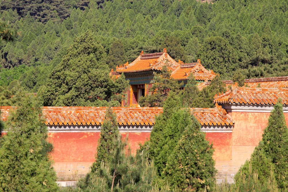 ZUNHUA - : Ancient architecture scenery in the Eastern Royal Tombs of the Qing Dynasty. Zunhua Hebei Province china.