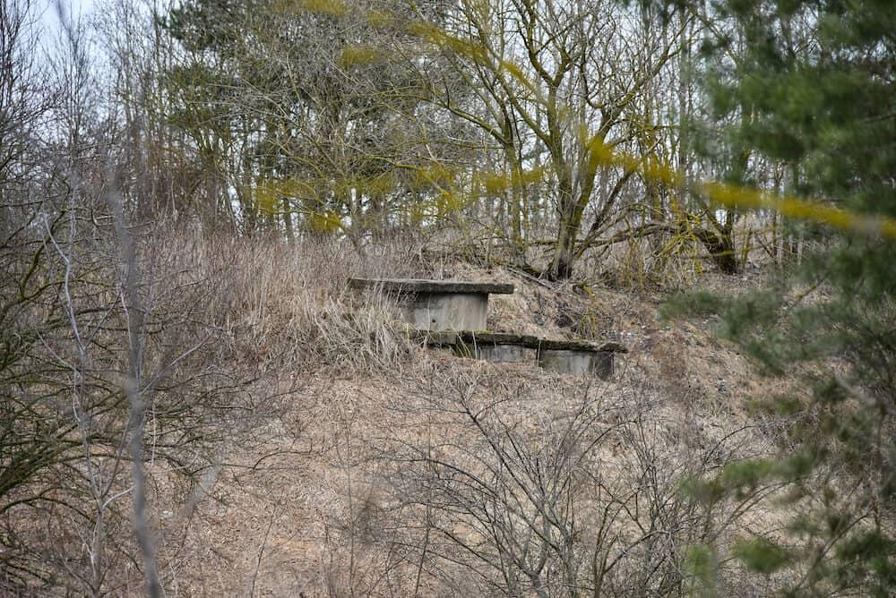 Ruined old German bunker of World War II.