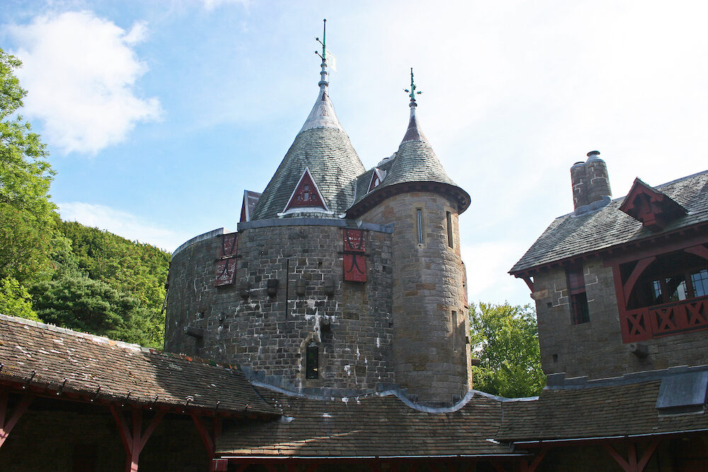 Bavarian style architecture of Castle Coch, Wales