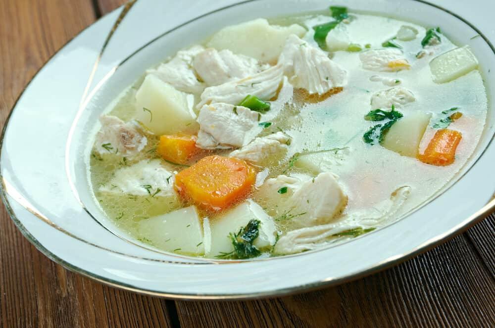 Chicken waterzooi - Belgian dish of stew originating in Flanders.