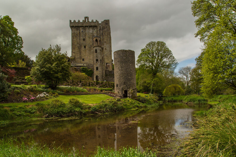BLARNEY, IRELAND - Blarney Castle, a medieval stronghold in Blarney, near Cork, Ireland, and the River Martin.