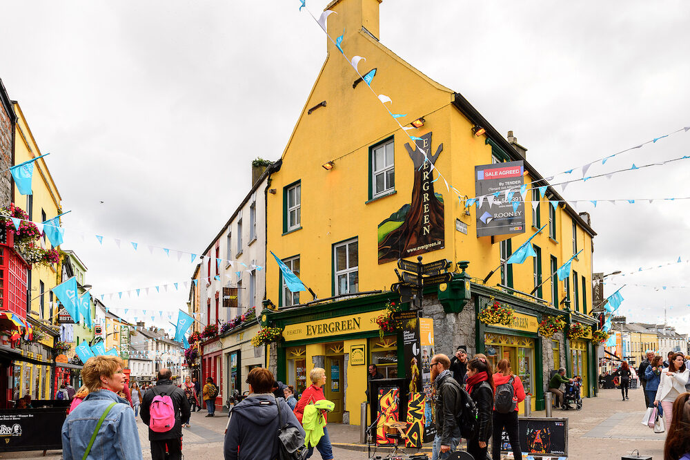 GALWAY IRELAND - Touristic area in Galway Ireland. Galway will be European Capital of Culture in 2020