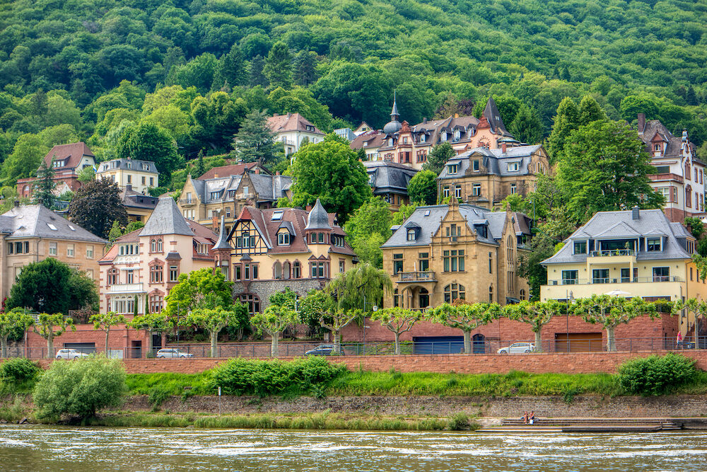 City view of old town Heidelberg in Germany