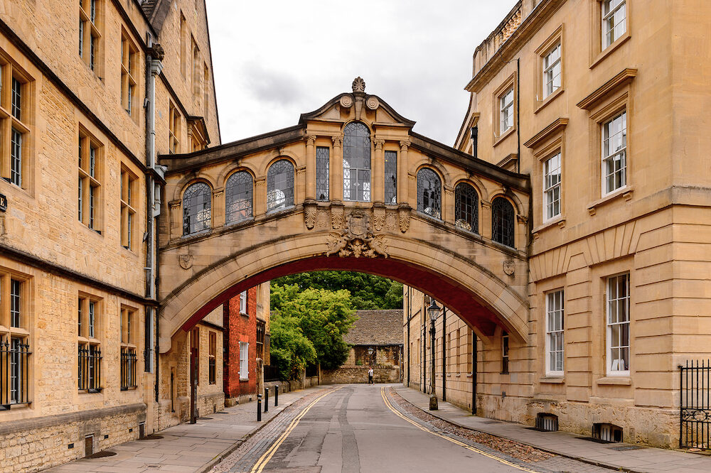 OXFORD ENGLAND - Bridge of Sighs at Hertford College Oxford England. Oxford is known as the home of the University of Oxford