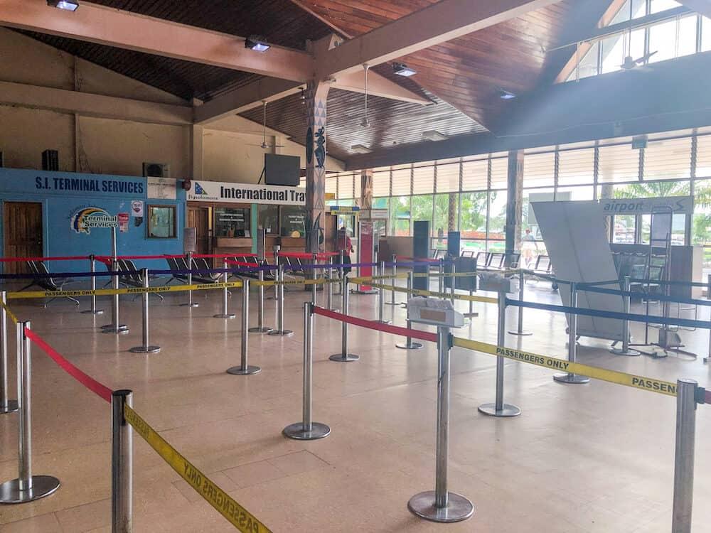 The inside of the Solomon Islands' Henderson International Airport