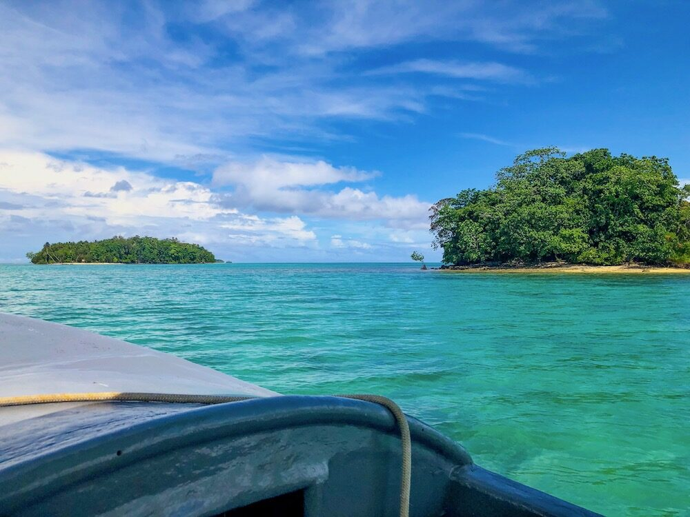 Solomon Islands - Hopei Island is located just off Munda mainland