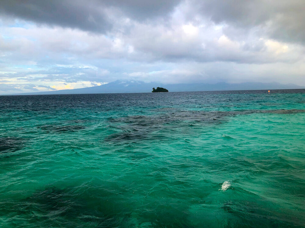 Solomon Islands - View of Kennedy Island from Fatboys resort