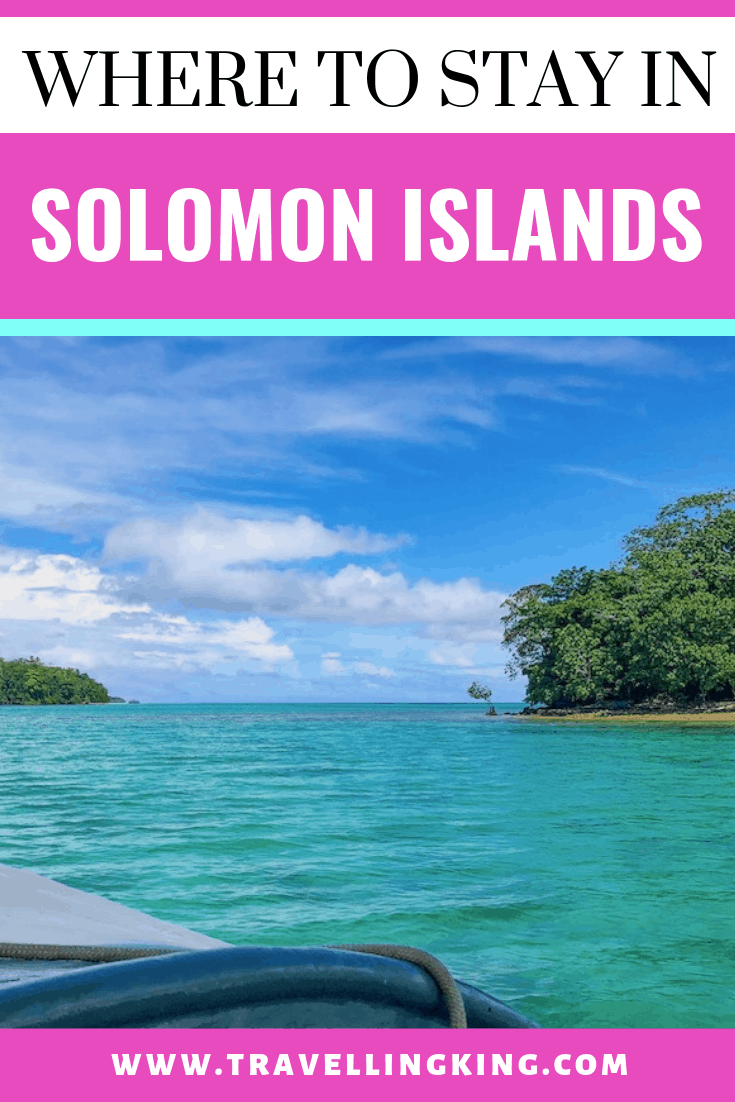 Where to stay in Solomon Islands