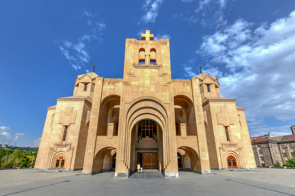 The Saint Gregory the Illuminator Cathedral, also known as the Cathedral of Yerevan is currently the largest cathedral of the Armenian Apostolic Church in the world.