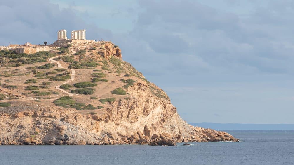 Cape Sounion Greece : Temple of Poseidon in Cape Sounion attica Greece