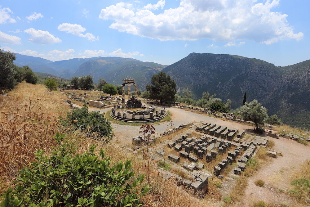 Delphi, Greece - The archaeological site of Delphi, seat of the oracle of the god Apollo