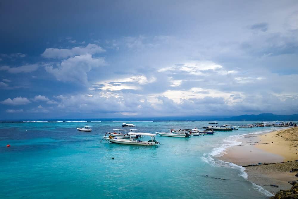Beach on Nusa Lembongan island in Bali, Indonesia
