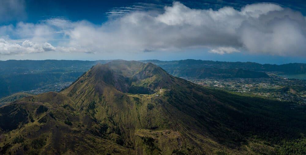 Mount Batur, Gunung Batur, Kintamani Volcano in Bali Panorama