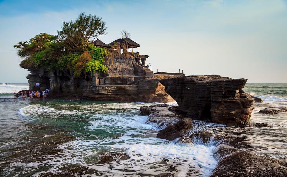 Temple in the sea( Pura tanah lot) Bali Indonesia