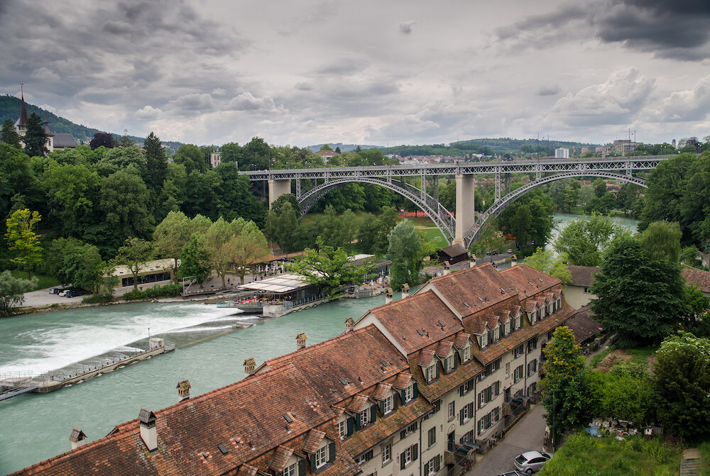 """Lorraineviadukt"" - Railway bridge over the over River Aare. Bern, Switzerland"