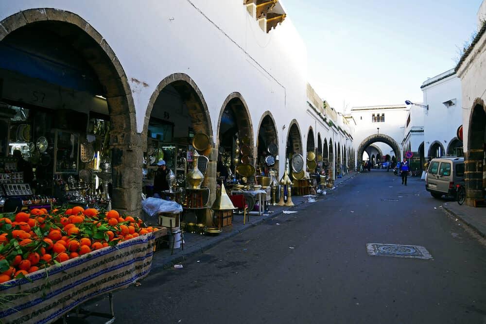 CASABLANCA, MOROCCO Historic buildings in Habous, Casablanca in Morocco.