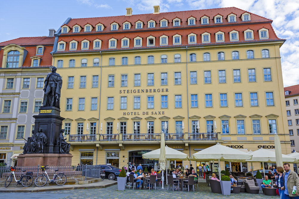 DRESDEN GERMANY - Four-Star Steigenberger Hotel de Saxe offers 185 guest rooms including 3 suites and 4 junior suites located in the heart of the city