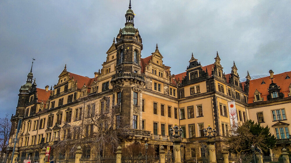 DRESDEN, GERMANY - View of Dresden Castle or Royal Palace in the historic center of the city