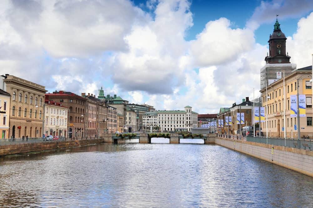 GOTHENBURG, SWEDEN - : City view of Gothenburg, Sweden. Gothenburg is the 2nd largest city in Sweden with 1 million inhabitants in the metropolitan area.