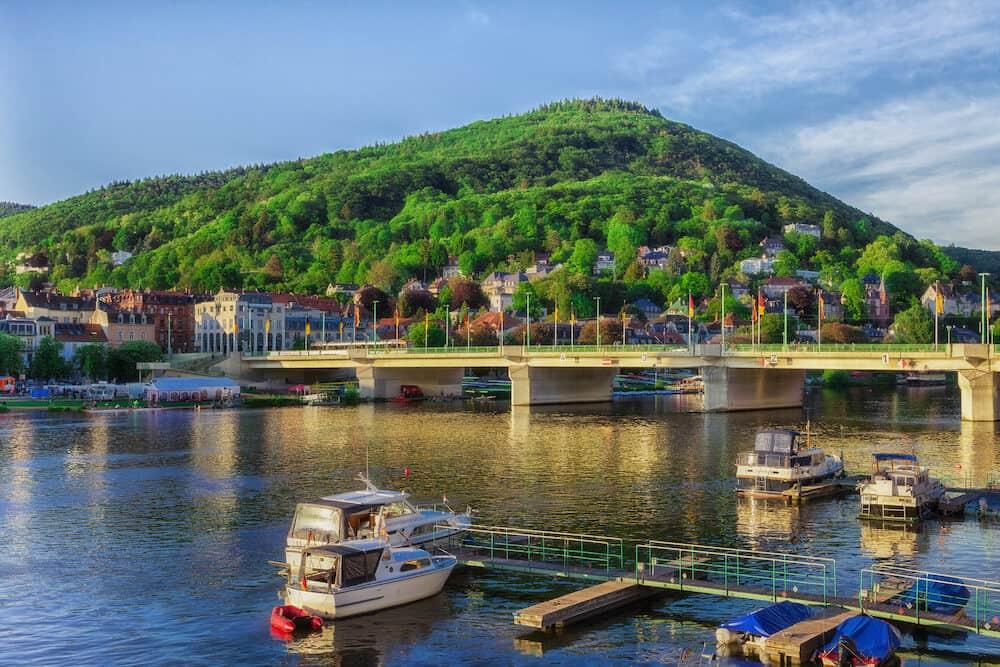 Heidelberg a town on the Neckar in Germany.