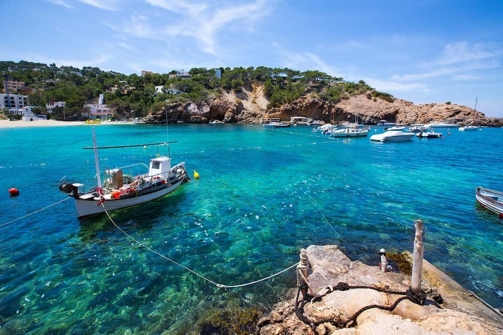 Ibiza Cala Vedella Vadella in Sant Josep at Balearic Islands of spain