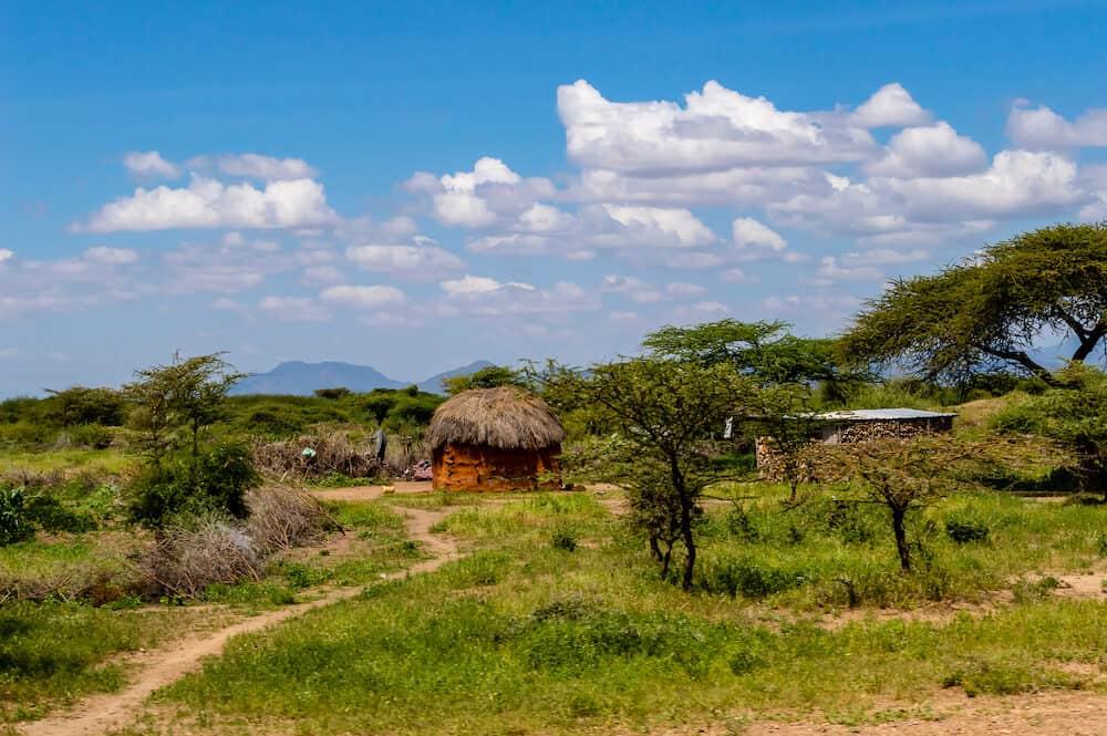 African traditional hut, Kenya. African traditional hut in Kenya