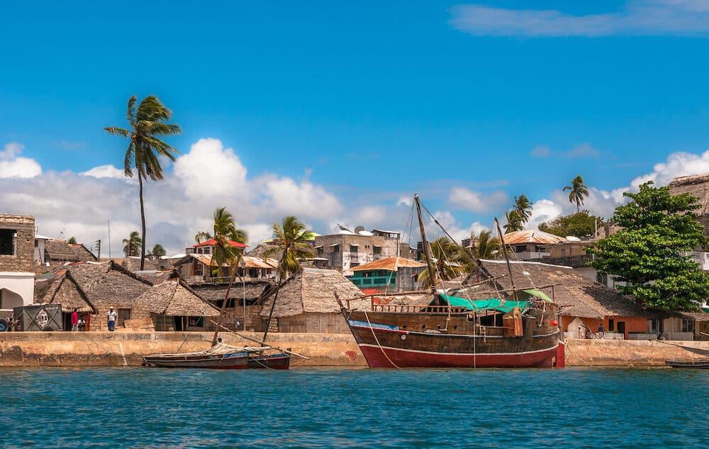 Lamu old town waterfront Kenya UNESCO World Heritage site