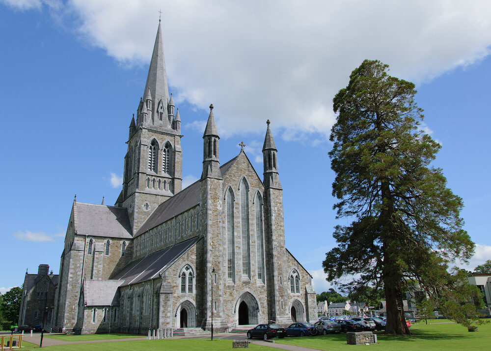 St. Mary's Cathedral in Killarney on a sunny day