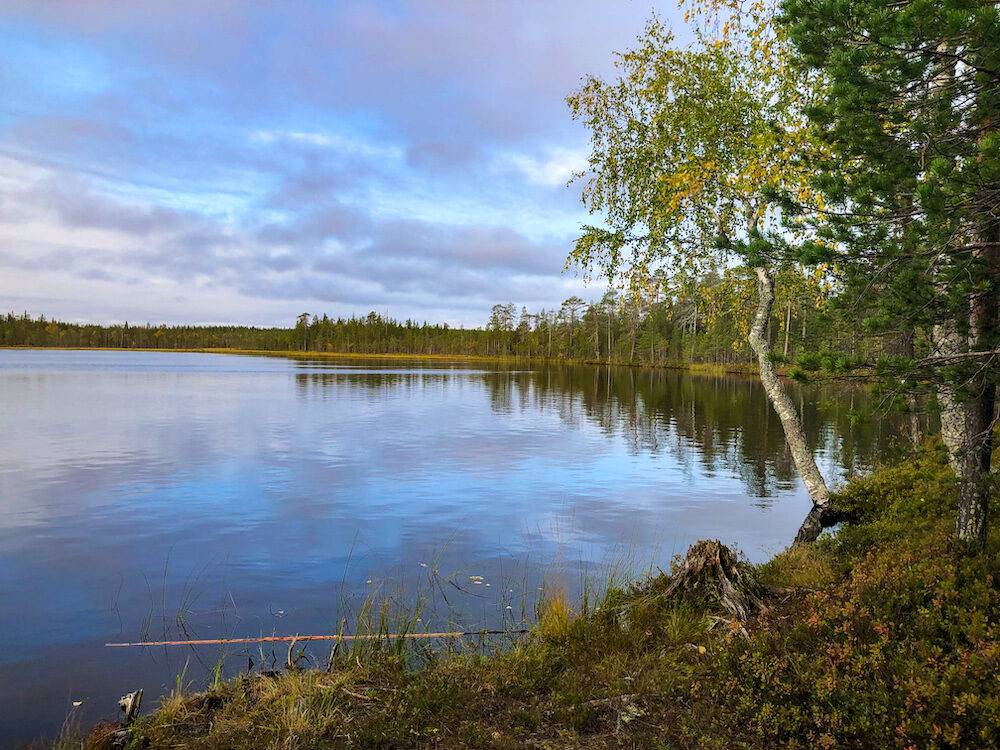 Lake in Finland Laplands
