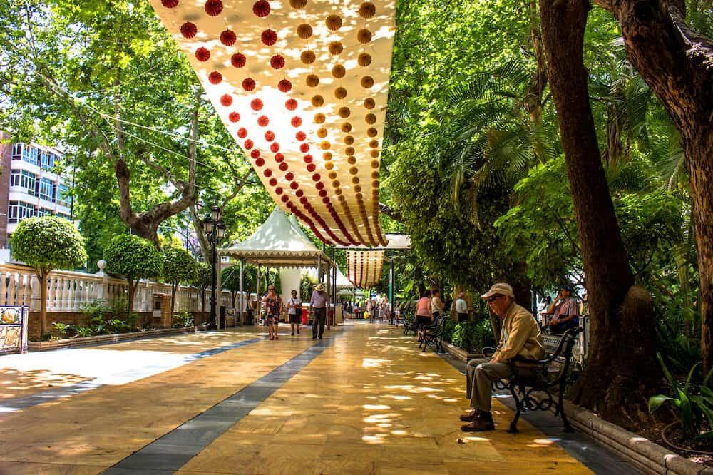 Park. Alameda Park Marbella. Malaga province, Andalusia, Spain