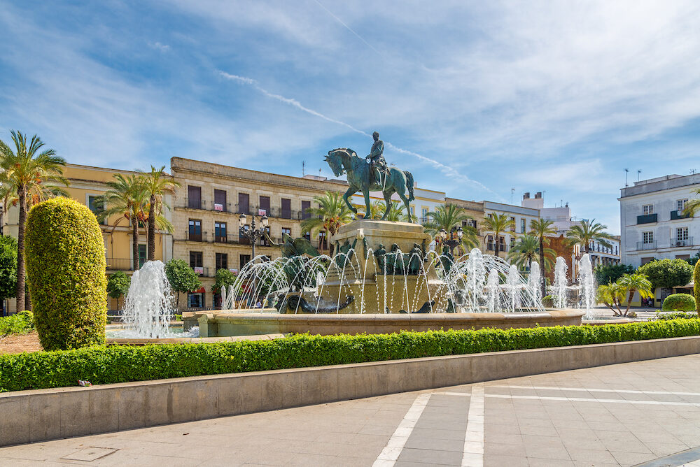 JEREZ DE LA FRONTERA,SPAIN - - At the Arenal place in Jerez de la Frontera. Jerez is known as the city of flamenco sherry horses and motorcycles.