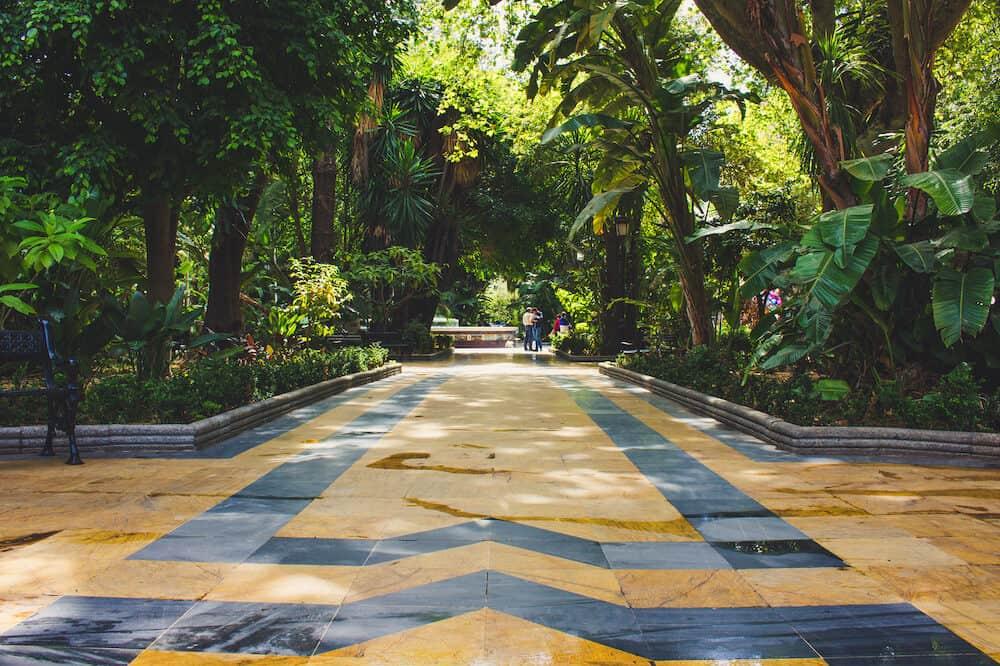 Park. Alameda Park Marbella. Malaga province, Andalusia, Spain.