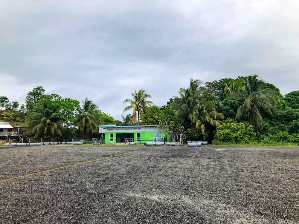 Nusa Tupe Airstrip near Gizo in the Solomon Islands