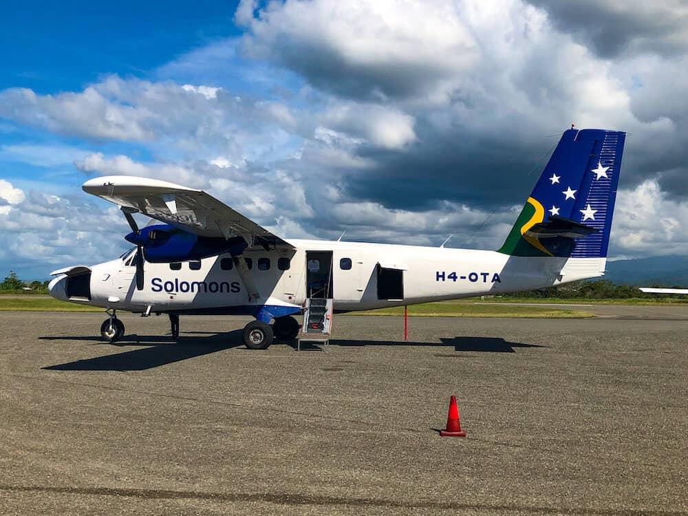Small Plane for internal flights in Solomon Islands