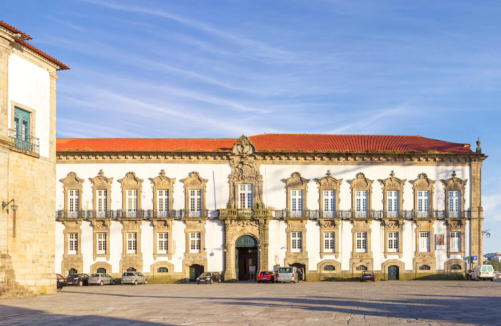 Porto, Portugal - Episcopal Palace or Paco Episcopal in historic center of Oporto.