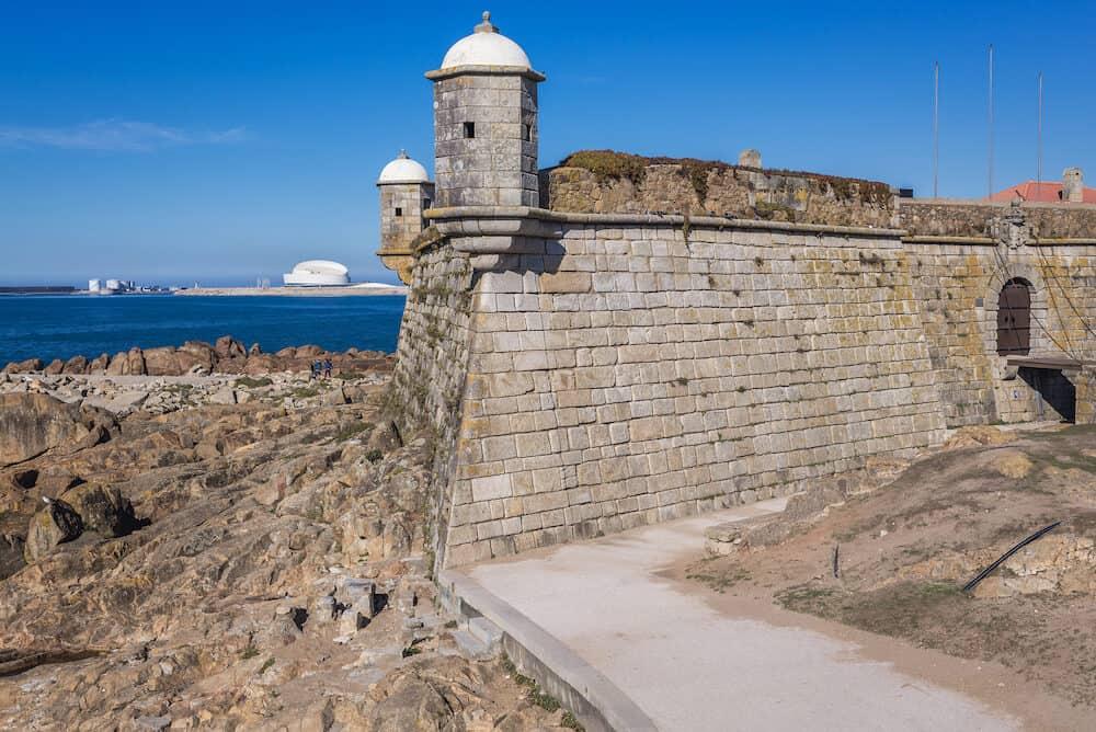 Old Sao Francisco do Queijo fortress in Porto city, Portugal