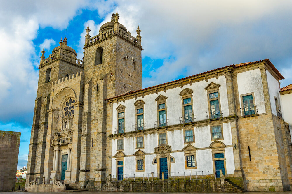 Romanesque Cathedral of Porto, Portugal is a Roman Catholic church