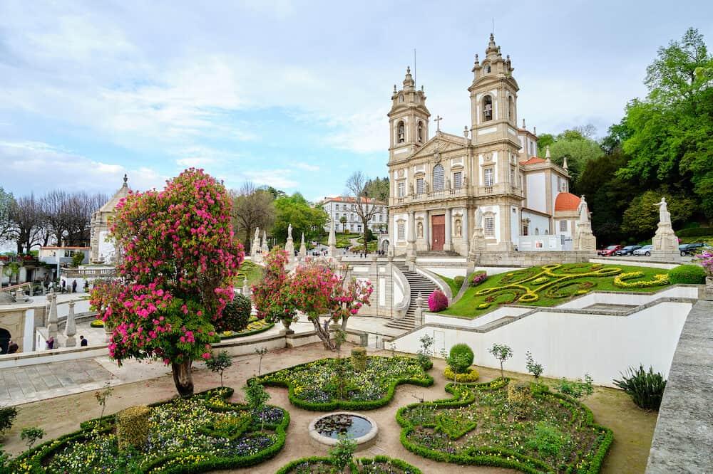 Braga, Portugal - The beautiful gardens next to the Sanctuary of Bom Jesus do Monte Braga, Portugal.