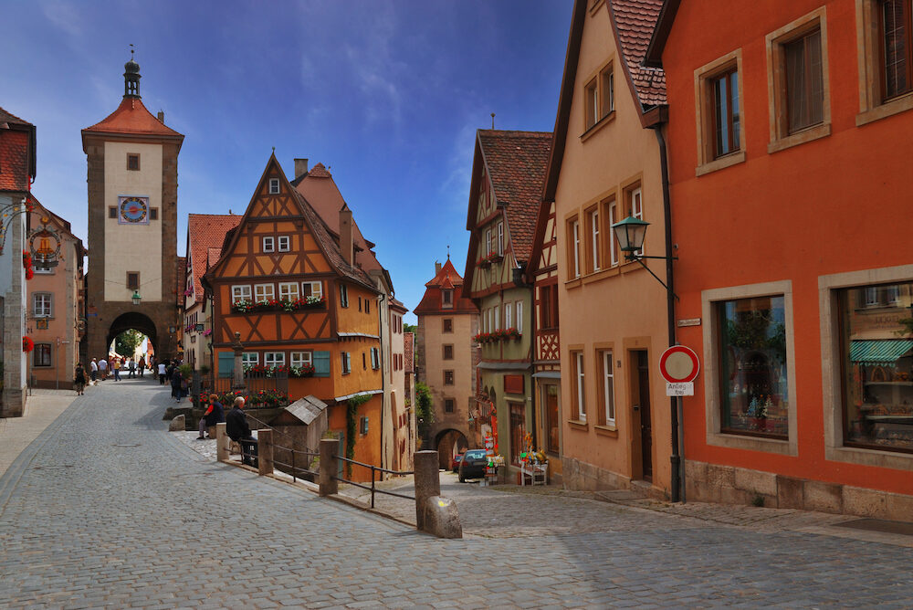 Medieval town of Rothenburg in Bavaria