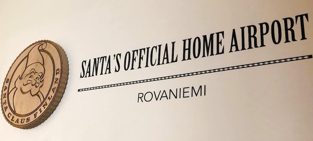 Rovaniemi Airport sign