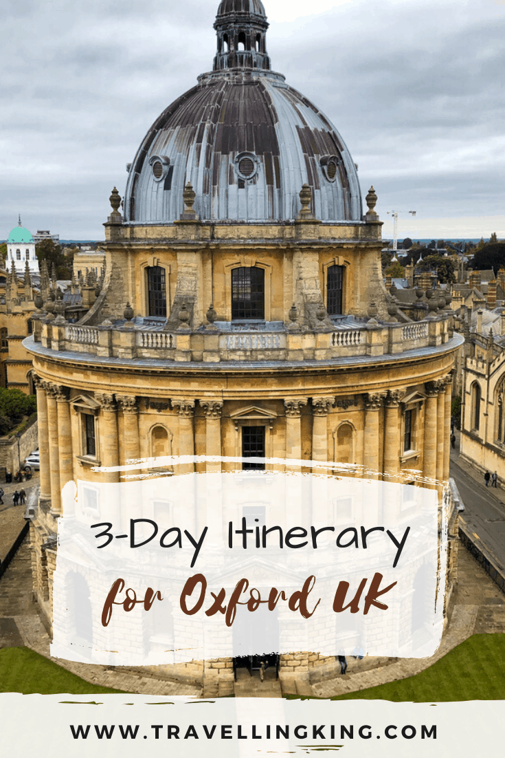 3-Day Itinerary for Oxford UK