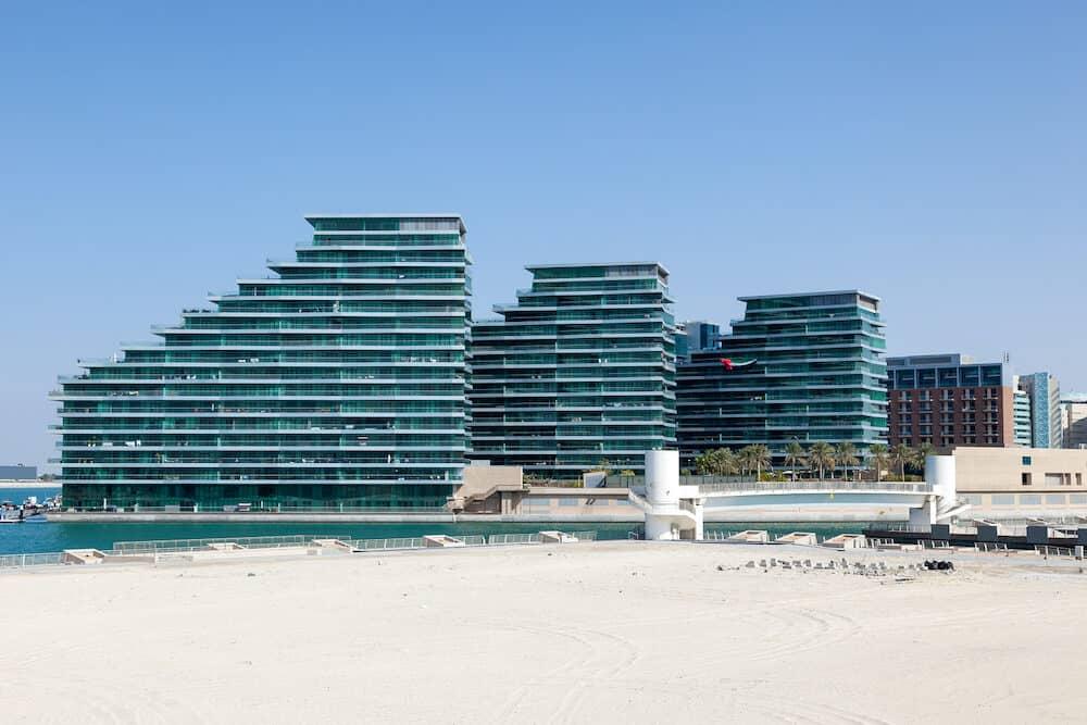 Residential buildings at Khor Al-Raha in Abu Dhabi United Arab Emirates