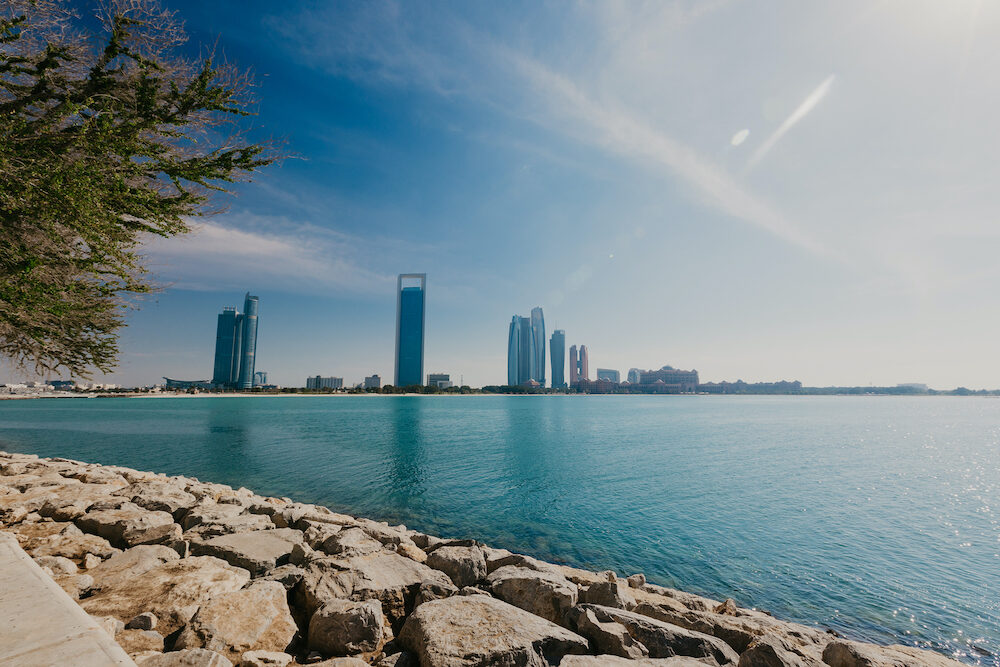 View of Abu Dhabi Skyline , United Arab Emirates