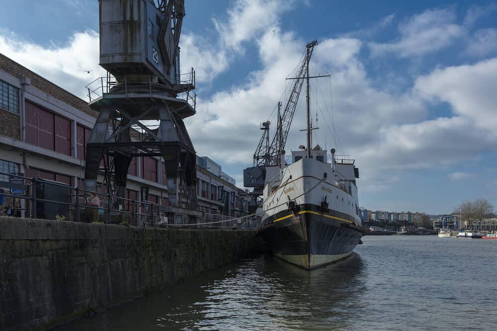 Bristol, United Kingdom, , MV Balmoral ship at M Shed Museum at Wapping Wharf