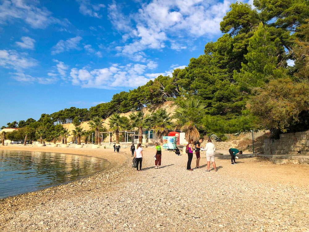 Beach cleanup excursion with Green Sail in Split Croatia