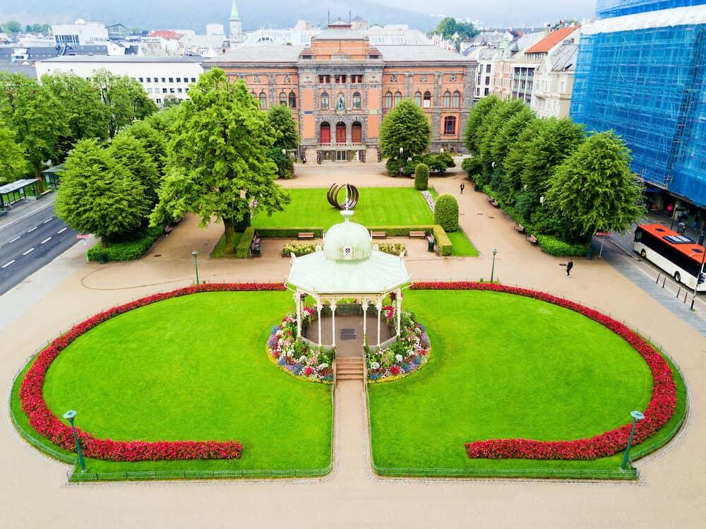 Kode Art Museum and Musikkpaviljongen music pavilion in Bergen city, Norway