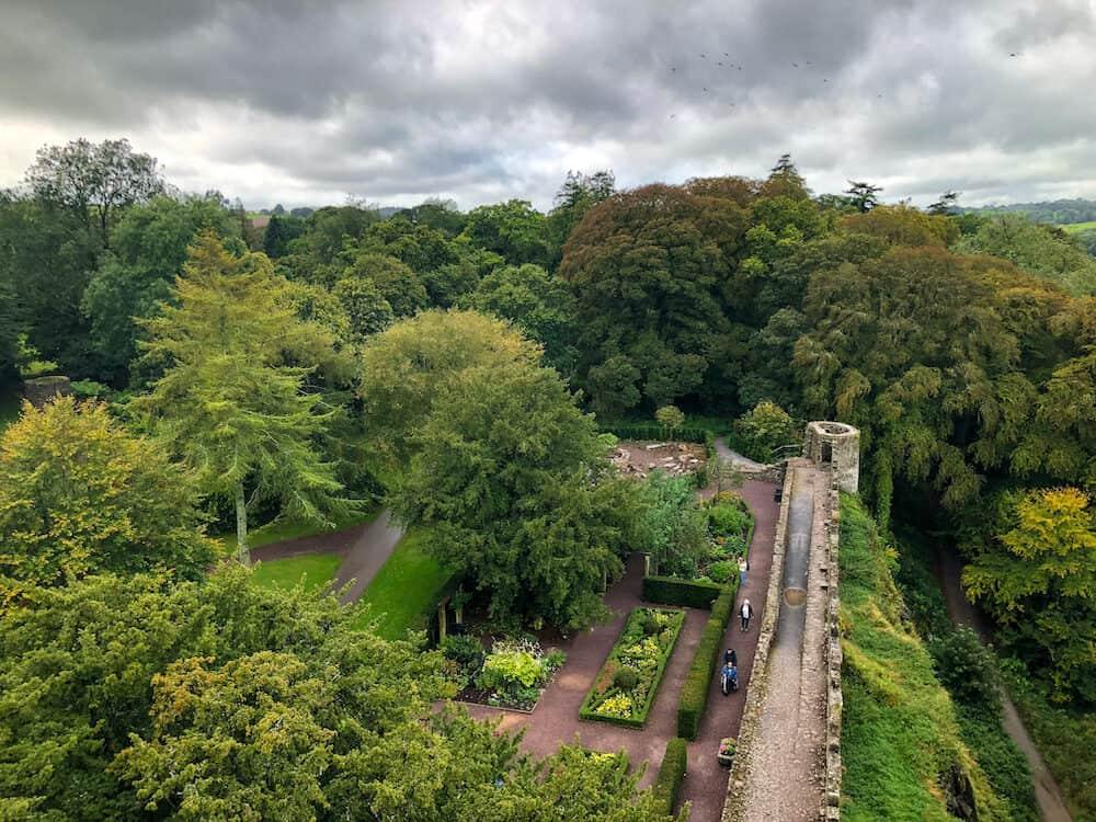 Blarney Castle and gardens in Blarney Ireland