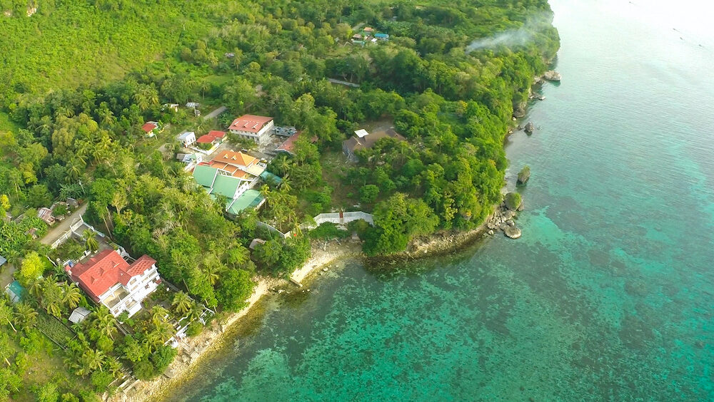 Philippine village at the coast. Bohol island.