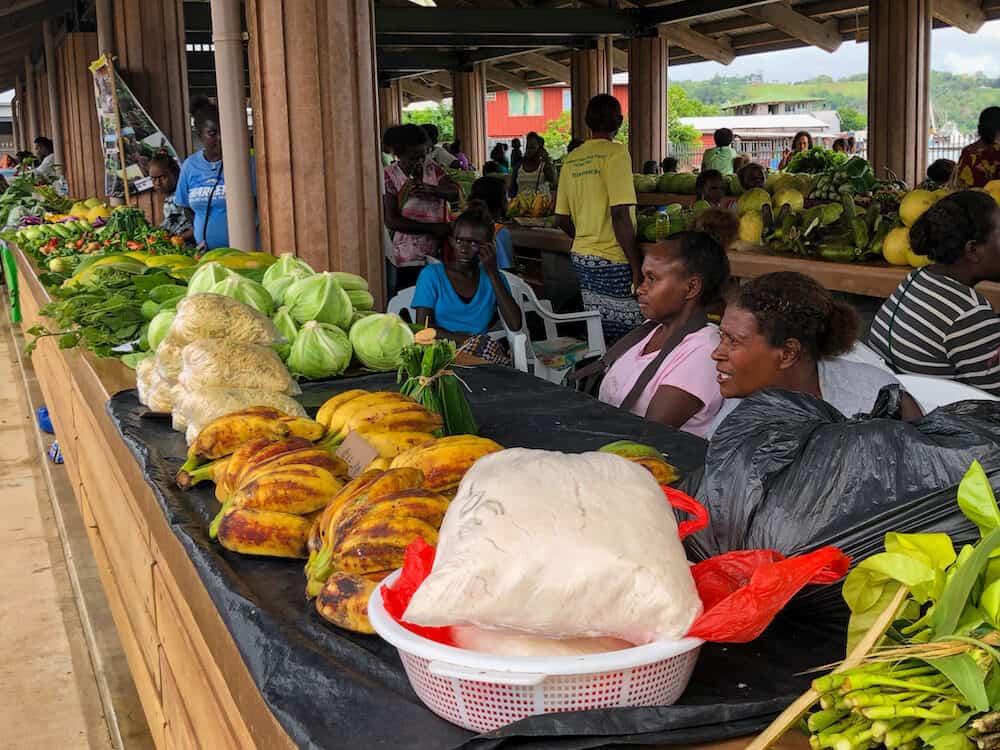 Brand new Gizo Market located in Gizo Solomon Islands