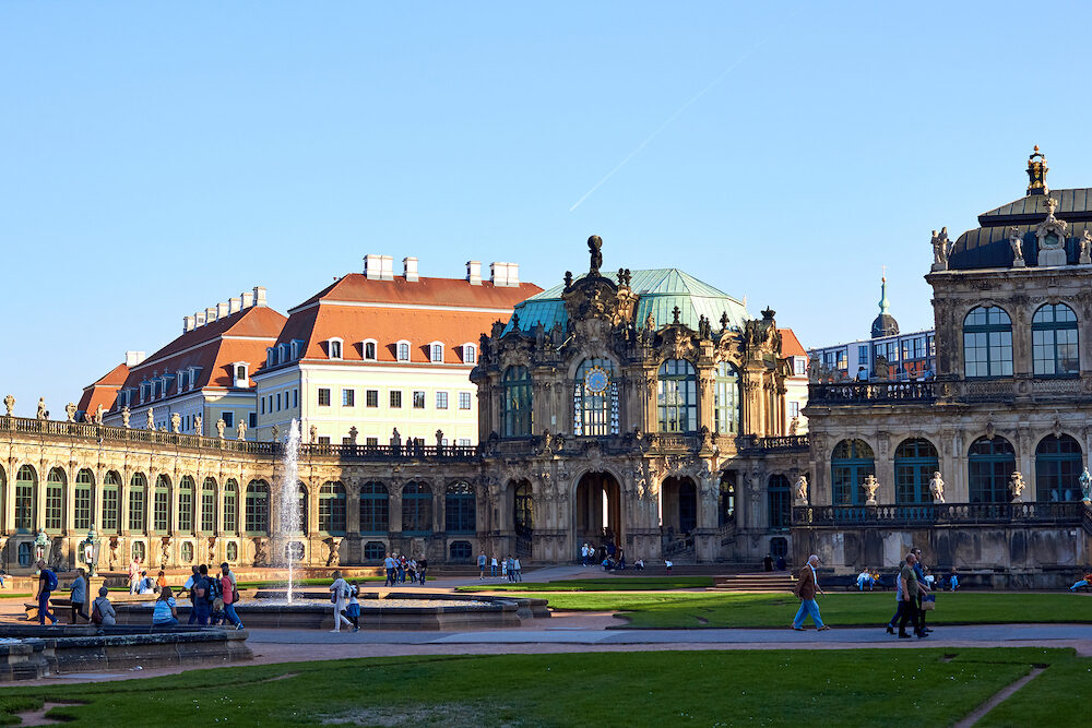 Dresden, Germany - sightseeings of Germany. Historical buildings and streets of Dresden. Park areas and squares of Dresden. German historical sites, views of the city and streets.